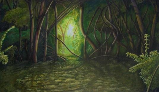 Derrick Nesbit   Illustrator Anime Forest Clearing Background